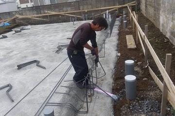 基礎の鉄筋の組み