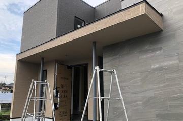 玄関ポーチの塗装